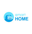 smart home logo vector image vector image