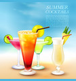 summer cocktail party background vector image vector image