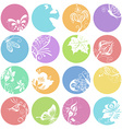 Summer round icons vector image