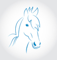 Symbol outline head horse isolated on white vector image