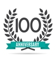 Template Logo 10 Years Anniversary vector image vector image