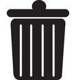 trash can rubbish bin flat icon vector image vector image
