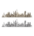 Travel Famous monuments of world Sketch vector image