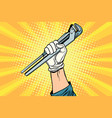 universal wrench hand master professional vector image vector image