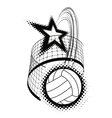 volleyball sport design element vector image vector image