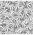 white overlapping marihuana leaves pattern vector image vector image