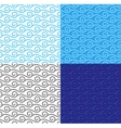 Curly linear waves seamless pattern set vector image