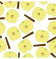 Apple with sinnamon seamless pattern vector image