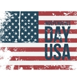 Independence Day USA Text on american Flag vector image