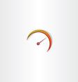 speedometer icon element vector image