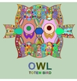 vintage design with owl vector image