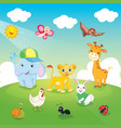 of animals vector image