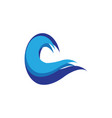 abstract wave business logo vector image vector image