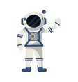 astronaut greeting cartoon isolated vector image vector image