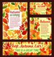 autumn falling leaf foliage poster template vector image vector image