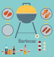barbecue flat style design - vector image vector image