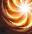 beautiful orange swirl background vector image vector image