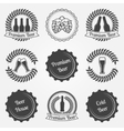 Beer labels and emblems vector image