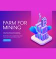 bitcoin mining farm vector image vector image