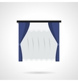 Blue window drapes flat color icon vector image vector image