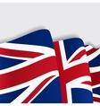 British waving Flag vector image