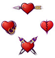 broken hearts vector image