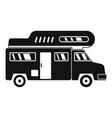 camping truck icon simple style vector image vector image
