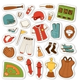 Cartoon baseball icons set vector image vector image