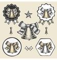 christmas bell vintage symbol emblem label vector image vector image
