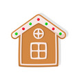 christmas cookie house with windows vector image vector image