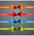 Colorful ribbons with bows vector image vector image
