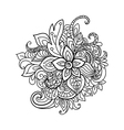 design element Zentangle floral pattern vector image vector image