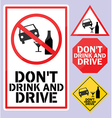 Dont drink and drive sign vector image