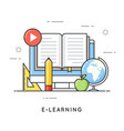 e-learning online education distance trainings vector image vector image