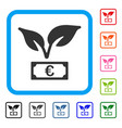 euro startup sprout framed icon vector image vector image