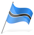 flag of Botswana vector image