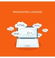 Flat computing background vector image vector image