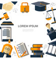 flat judicial system concept vector image vector image
