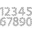 footprints 123 vector image vector image