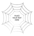 Frame of a spider web on white background vector image vector image