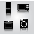 fridge and microwave and oven and washing machine vector image vector image