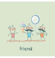 friend vector image vector image
