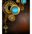 Gears on Rusty Background vector image vector image