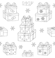 Gift boxes hand drawn doodle seamless vector image