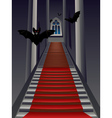 Gothic Stairs Interior3 vector image vector image