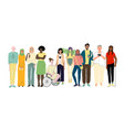 group different young people social diversity vector image vector image