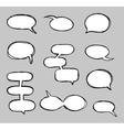 Hand-drawn speech bubbles sketchy doodle vector image vector image