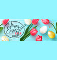 happy easter sale bannerbeautiful background with vector image vector image