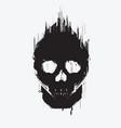hi-tech skull vector image