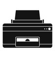 home printer icon simple style vector image vector image